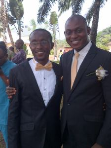 THE GROOM, TONY WITH A FRIEND, VICTOR