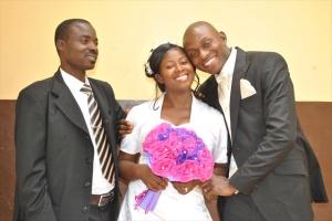 MR & MRS VICTOR UYANWANNE WITH SAMUEL UYANWANNE