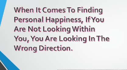 Finding Personal happiness