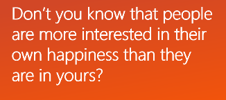Interest in Happiness