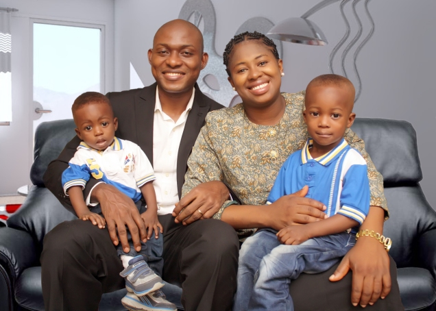 Victor Uyanwanne Family When Newman Turned One year