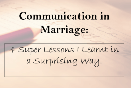 Need for healthy communication in marriage