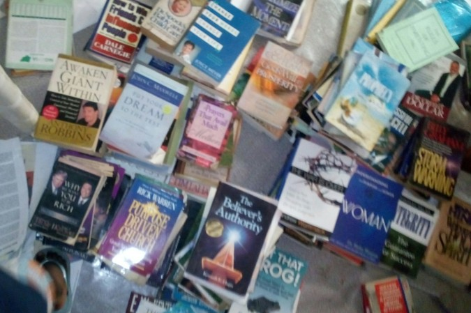 Chaotic mess of books