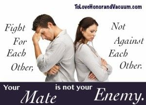 Husband and wife are not enemies.