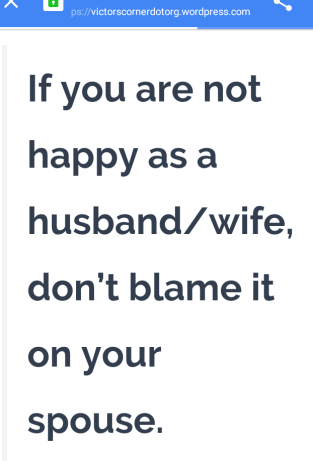 Stop blaming your spouse