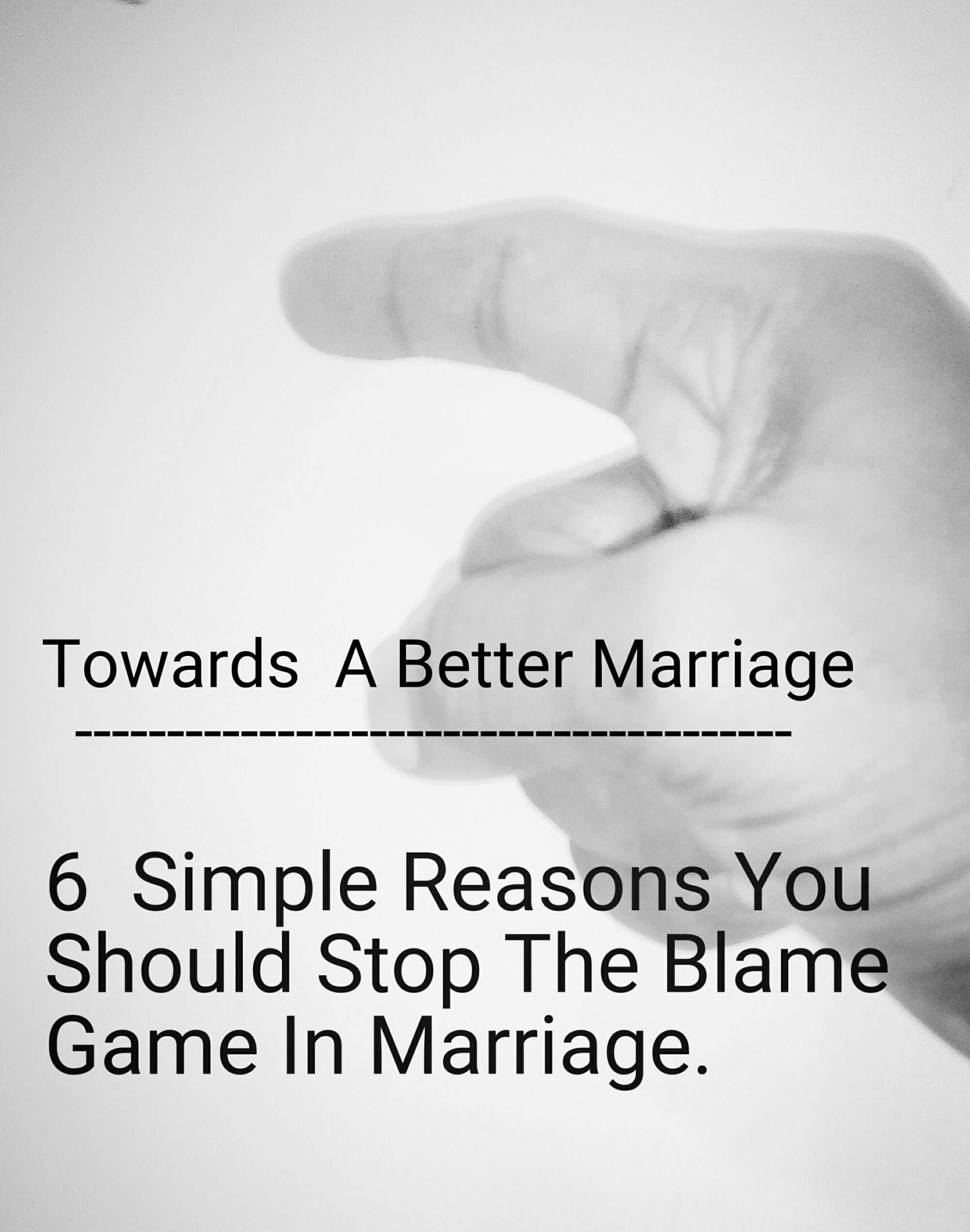 Don't blame your spouse