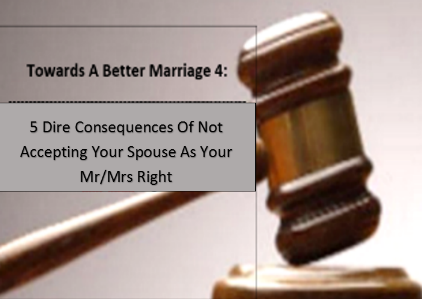 Your spouse is your Mr/Mrs Right
