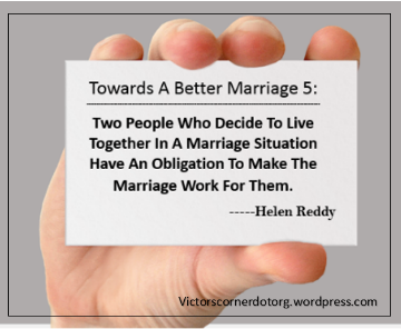 making your marriage work.