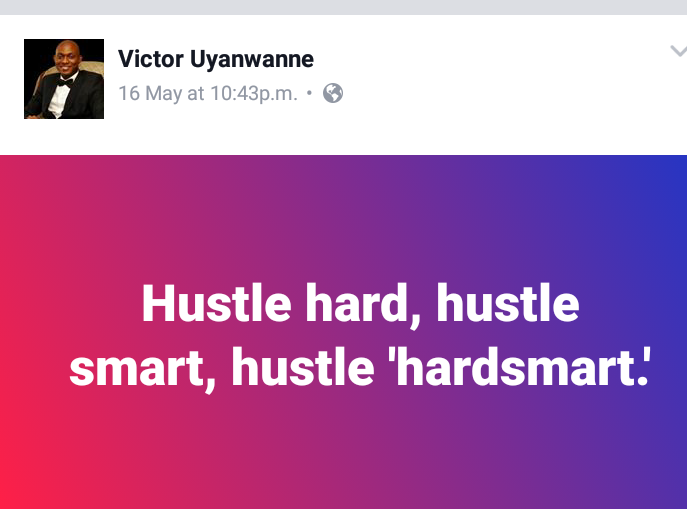 Hustle hard and smart
