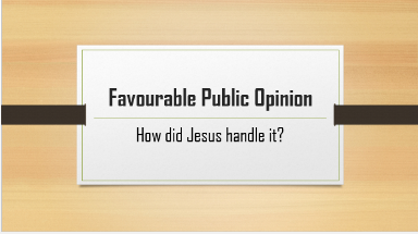 Jesus did not entrust Himself to the people.