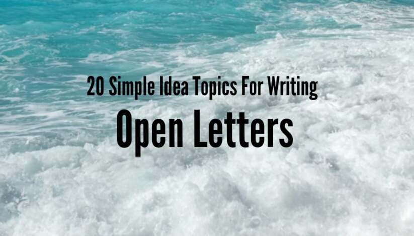 Victor Uyanwanne: 20 Simple Ideas For Writing Open Letters