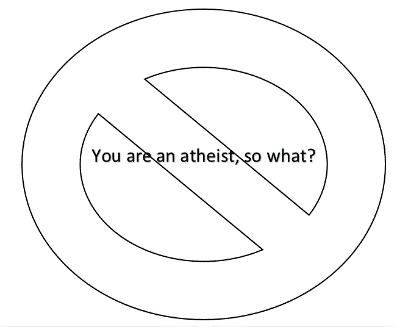 Being an atheist does not reduce who God is