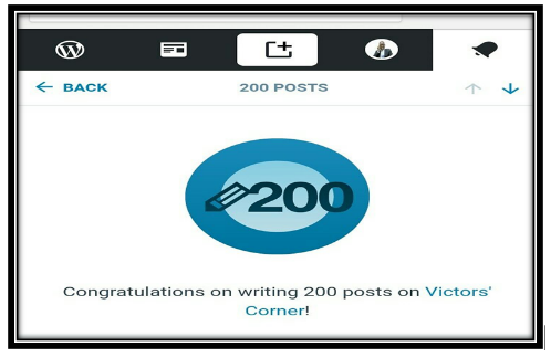 reaching the 200 posts mark