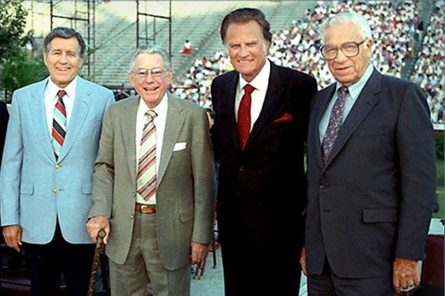 The ministry team of Cliff Barrows, Grady Wilson, Billy Graham and George Beverly Shea