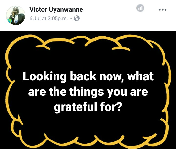 Victor Uyanwanne asks a question on gratitude