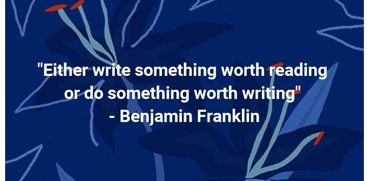 Benjamin Franklin's quote on writing