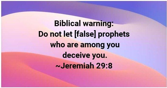Jeremiah 29 vs 9