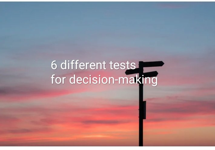 How to make beneficial decisions